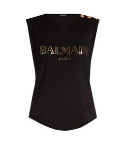 Balmain | Logo-Print Cotton Tank Top