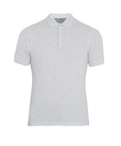 Brunello Cucinelli | Slit-Hem Cotton-Piqué Polo Shirt