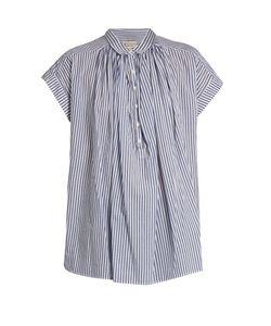 Nili Lotan   Normandy Striped Cotton Shirt
