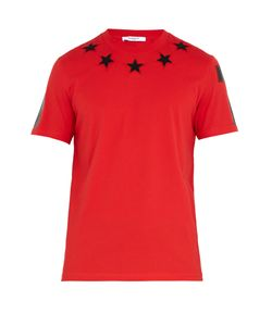 Givenchy | Star-Appliqué Cotton T-Shirt