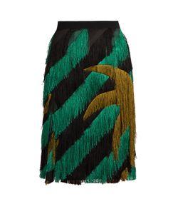 Marco De Vincenzo | Palm Tree-Fringed Pencil Skirt