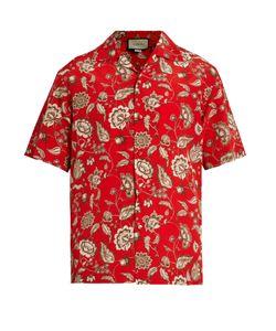 Gucci | -Print Silk Crepe De Chine Shirt