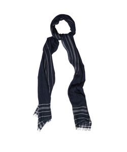Dunhill | Striped-Frame Wool-Blend Scarf