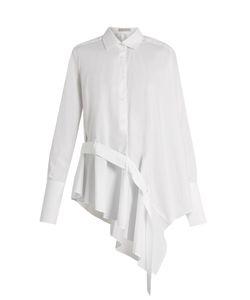 PALMER/HARDING | Ruffle-Front Cotton-Blend Shirt