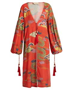 Adriana Degreas | Dragon-Print Crepe Tunic