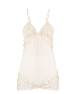 COCO DE MER | Pandion Embroidered-Lace Slip