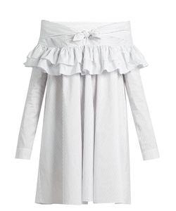 Isa Arfen | Knot-Front Ruffled Cotton-Blend Dress