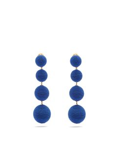 Rebecca De Ravenel | Corded-Silk Drop Clip-On Earrings