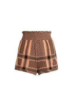 CECILIE COPENHAGEN | Scarf-Jacquard Cotton Shorts