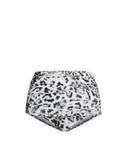 Norma Kamali   Bill Print High-Rise Bikini Briefs