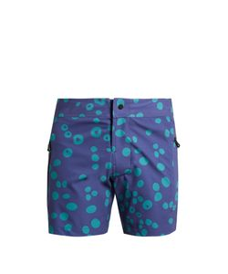 Everest Isles | Draupner Coral-Print Swim Shorts
