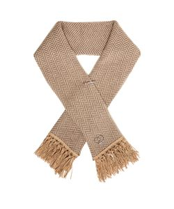 QUEENE AND BELLE | Tassel-Embellished Chevron-Knit Wool Scarf