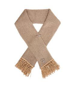 QUEENE AND BELLE | Tassel-Embellished Chevron-Knit Wool Scarf