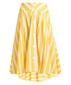 Thierry Colson | Romane Striped Cotton-Poplin Skirt