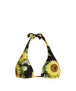 Dolce & Gabbana | Sunflower-Print Halterneck Bikini Top