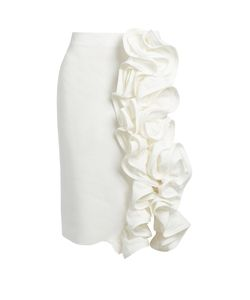 BROCK COLLECTION | Stacey Ruffled Linen Pencil Skirt