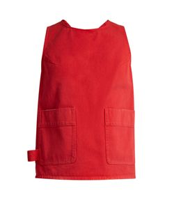 MM6 by Maison Margiela | Knotted Racer-Back Denim Top