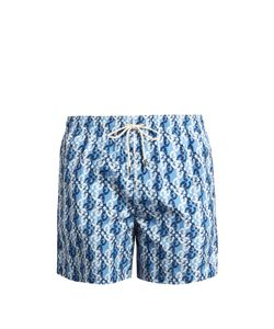 LE SIRENUSE, POSITANO | Waterfall Bordeaux-Print Swim Shorts