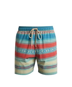 Faherty | Aztec Striped-Print Shorts