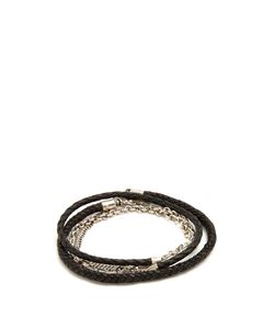 TITLE OF WORK | Leather And Sterlingwrap Bracelet