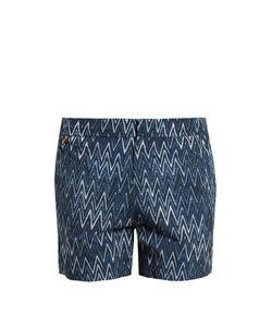 Missoni | Striped Chevron-Print Swim Shorts