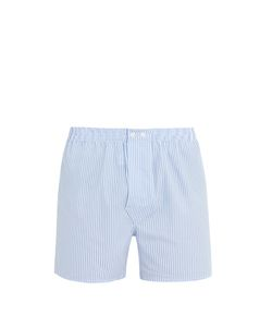 Derek Rose | James Cotton-Poplin Boxer Shorts