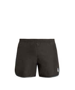 Robinson Les Bains   Cambridge Long Logo-Patch Swim Shorts