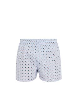 Sunspel | Swimmers-Print Cotton Boxer Shorts