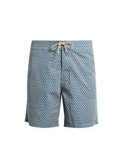 Faherty   Fishscale-Print Swim Shorts