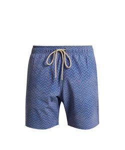 Faherty   Zigzag-Print Swim Shorts