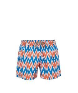 ÒKUN | Bolga Zigzag-Print Swim Shorts