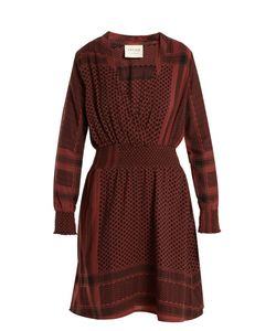 CECILIE COPENHAGEN | Zoetic V-Neck Scarf-Jacquard Cotton Dress