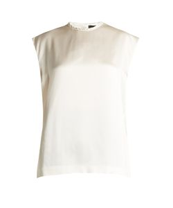 Haider Ackermann | Dali High-Neck Silk-Satin Blouse