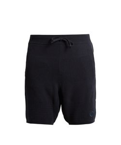 ADIDAS BY WINGS & HORNS | Linear Cotton-Blend Knit Shorts