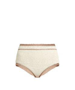 SHE MADE ME | Sana High-Rise Crochet Bikini Briefs