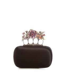 Alexander McQueen | Flower Satin Knuckle Clutch