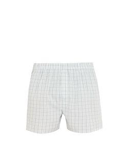 Sunspel | Check-Print Cotton Boxer Shorts