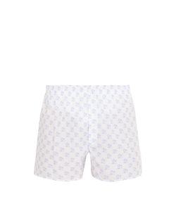 Sunspel | Cruise Ship-Print Cotton Boxer Shorts