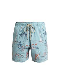 Faherty   Palm Tree-Print Swim Shorts
