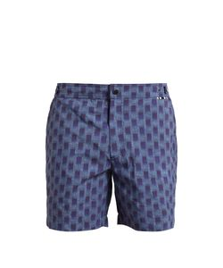 DANWARD | Abstract-Print Swim Shorts