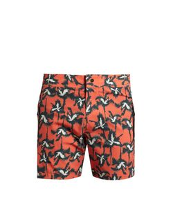 Everest Isles | Drauper Palm Tree-Print Swim Shorts
