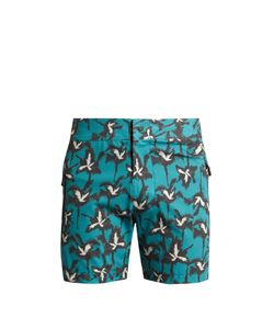 Everest Isles | Drauper Explosion Palm-Print Swim Shorts