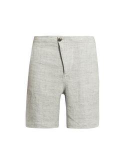 HELBERS | Speckled Washed-Linen Shorts