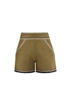 TALITHA | Embroidered Cotton Shorts