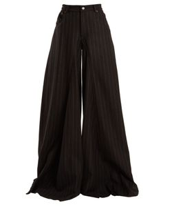 MM6 by Maison Margiela | High-Rise Wide-Leg Wool-Blend Trousers