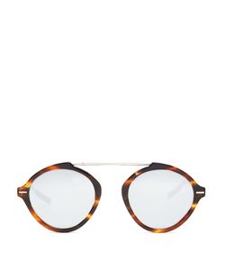 DIOR HOMME SUNGLASSES | System Round-Frame Mirrored Sunglasses