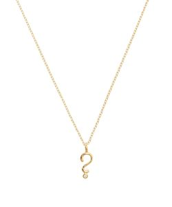 ALISON LOU | Diamond Question Mark Necklace