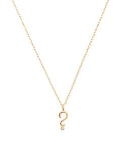 ALISON LOU | Diamond Question Mark Necklace