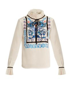 Temperley London | Imperium Embroidered Silk-Crepe Blouse