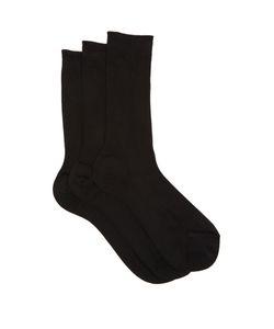 RAEY | Set Of Three Silk Socks